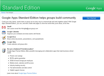 Google Apps Standard Edition