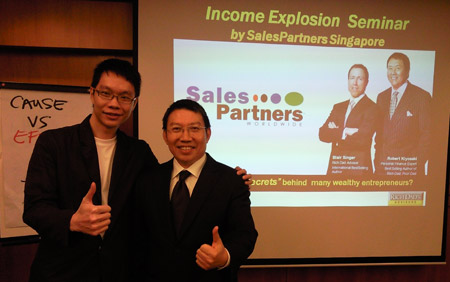 KC with Raymond Chong, from Sales Partners Singapore