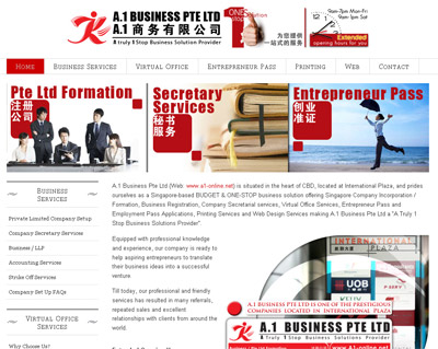 A1 Business Website