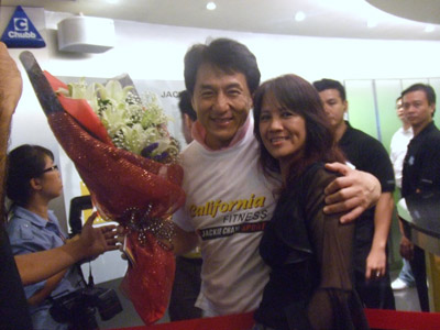 Jackie Chan and June Koh