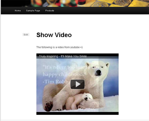 Showing videos in wordpress