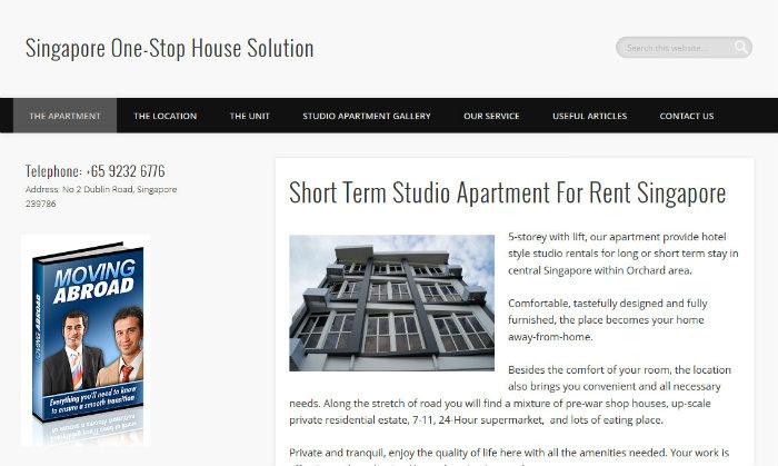 Short term rental Singapore