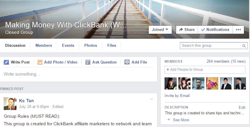 clickbank facebook group