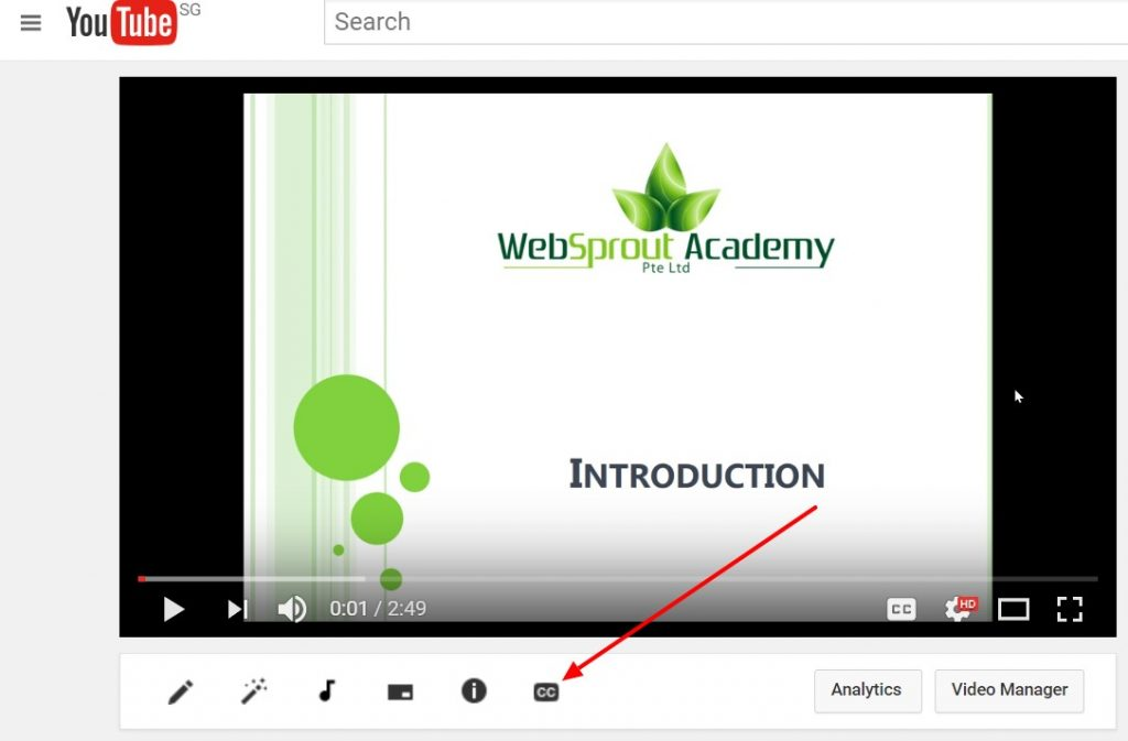 how to add caption to udemy course