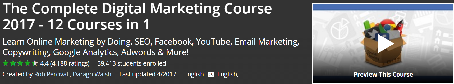 The Complete Digital Marketing Course 2017 12 Courses in 1