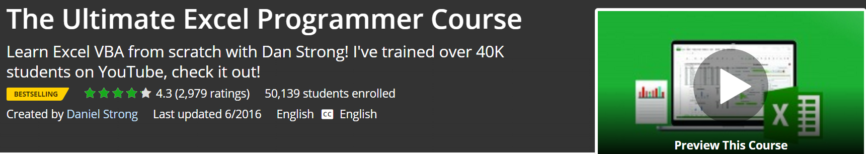 The Ultimate Excel Programmer Course