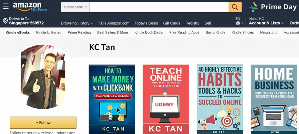 kc tan kindle books